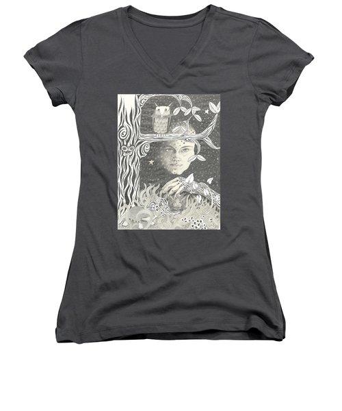 Alice Syndrome Women's V-Neck T-Shirt (Junior Cut)