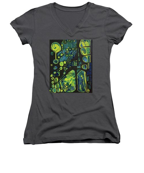 Alien Blue #2 Women's V-Neck (Athletic Fit)