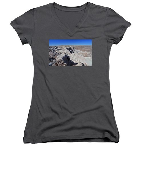Women's V-Neck T-Shirt (Junior Cut) featuring the photograph Alien Landscape by Gary Kaylor