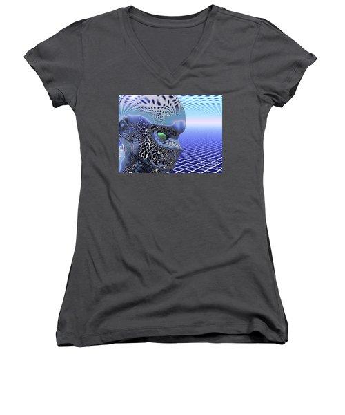 Alien Stare Women's V-Neck T-Shirt