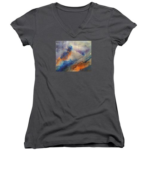 Alien Terrain Women's V-Neck T-Shirt (Junior Cut) by Becky Chappell