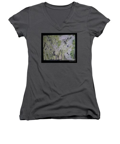Aliens, Wild Horses, Sharks And Skeletons  Women's V-Neck T-Shirt (Junior Cut) by Talisa Hartley