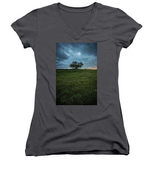 Alive Women's V-Neck T-Shirt (Junior Cut) by Aaron J Groen