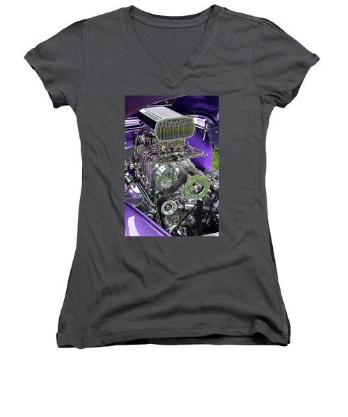 All Chromed Engine With Blower Women's V-Neck