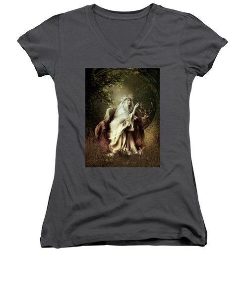 All Creatures Great And Small Women's V-Neck (Athletic Fit)