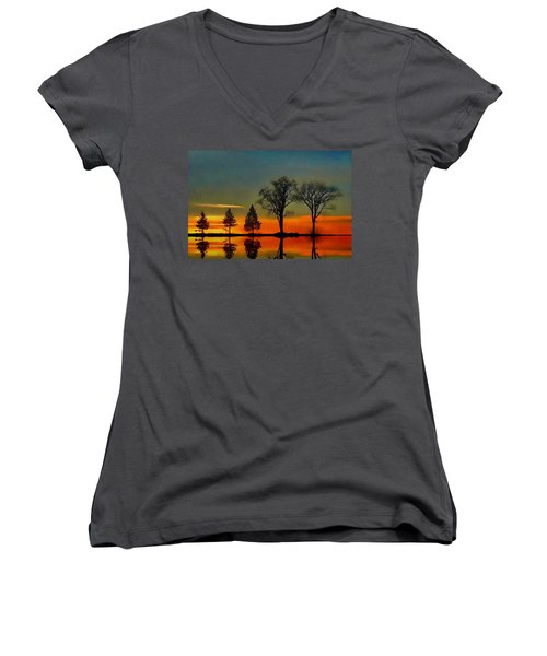 All In A Row  Women's V-Neck (Athletic Fit)