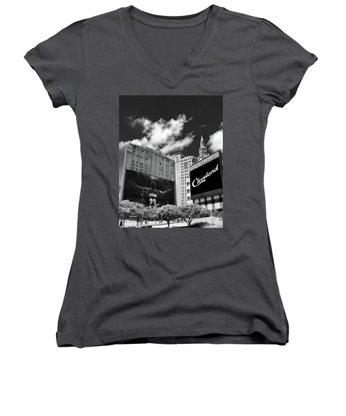 All In Cleveland Women's V-Neck T-Shirt