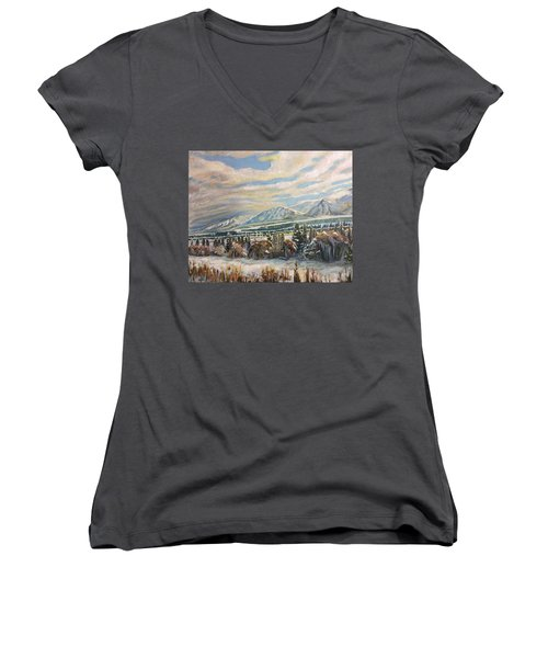 All Of Creation Waits Women's V-Neck T-Shirt