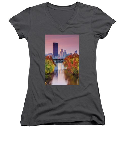 All Pittsburgh Pink  Women's V-Neck (Athletic Fit)