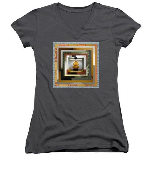 Alladin's Lamp Women's V-Neck T-Shirt (Junior Cut) by Paul Moss