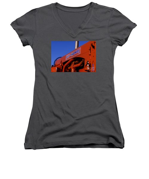 Allis-chalmers Vintage Tractor Women's V-Neck