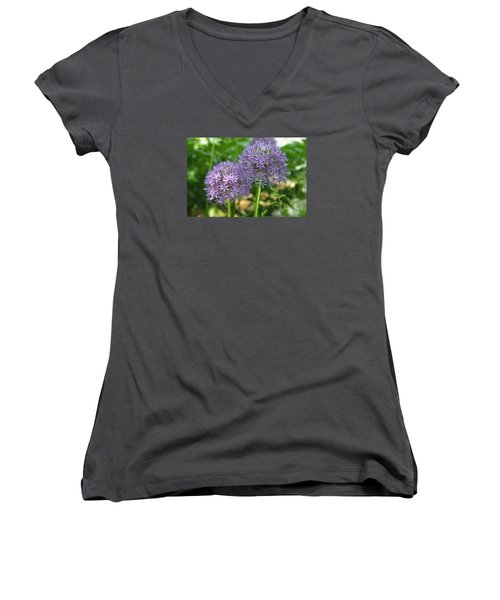 Allium Women's V-Neck (Athletic Fit)