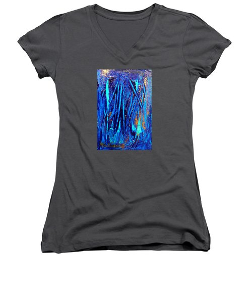 Alll That Glitters Women's V-Neck T-Shirt (Junior Cut) by Mary Sullivan