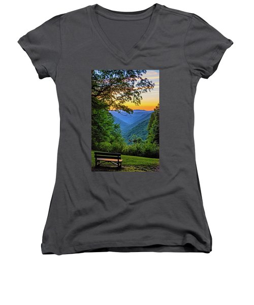 Almost Heaven - West Virginia 3 Women's V-Neck (Athletic Fit)