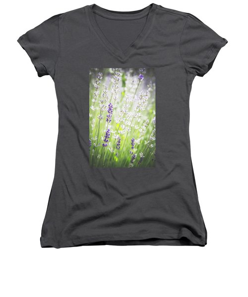 Women's V-Neck T-Shirt (Junior Cut) featuring the photograph Almost Wild..... by Russell Styles