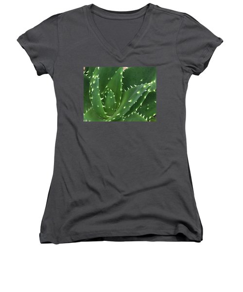 Aloe-icious Women's V-Neck T-Shirt (Junior Cut) by Russell Keating