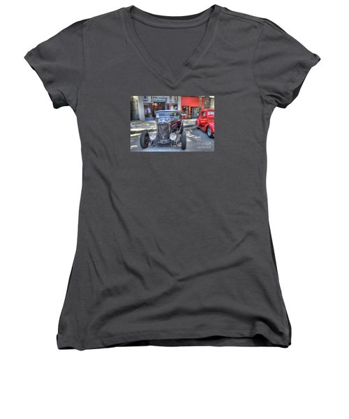 Aloha Cars And Pinups Women's V-Neck