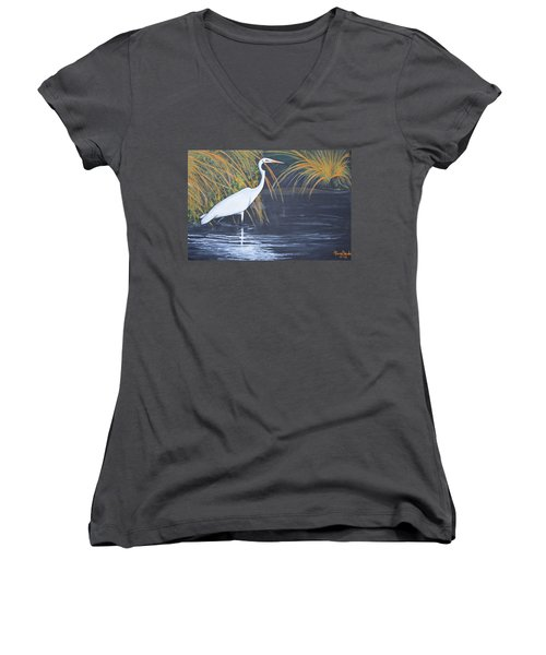 Alone But Happy Women's V-Neck (Athletic Fit)