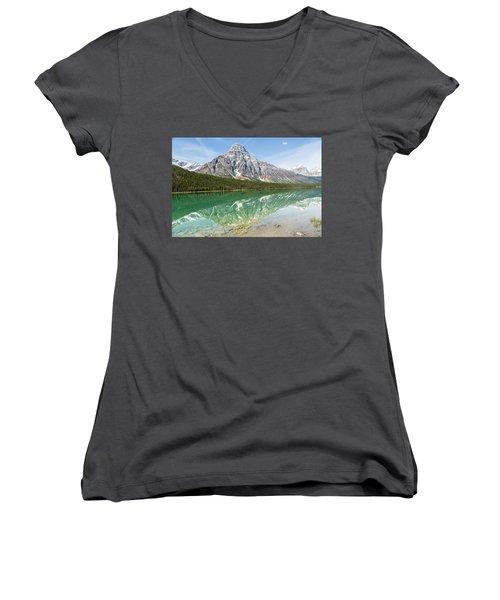 Along Highway 93 Women's V-Neck T-Shirt