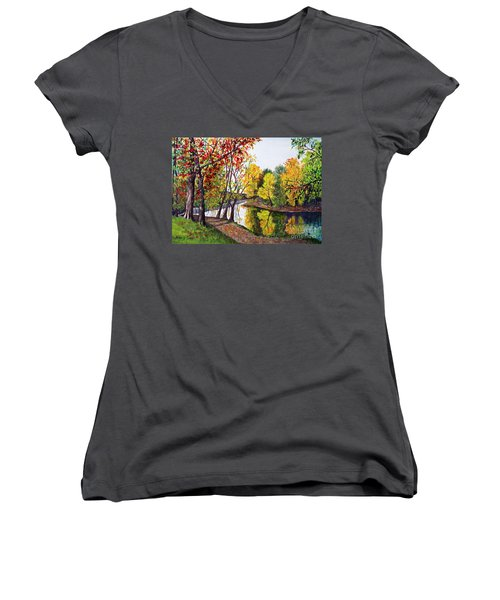 Along The Blanchard Women's V-Neck