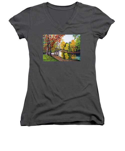 Along The Blanchard Women's V-Neck (Athletic Fit)