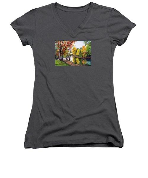 Along The Blanchard Women's V-Neck T-Shirt