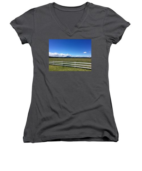 Along The Fence Line Women's V-Neck (Athletic Fit)