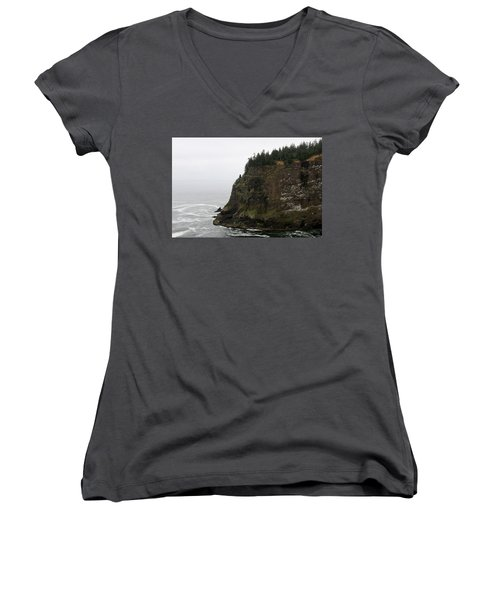 Along The Oregon Coast - 6 Women's V-Neck (Athletic Fit)