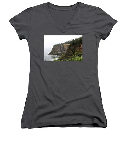 Along The Oregon Coast - 8 Women's V-Neck (Athletic Fit)