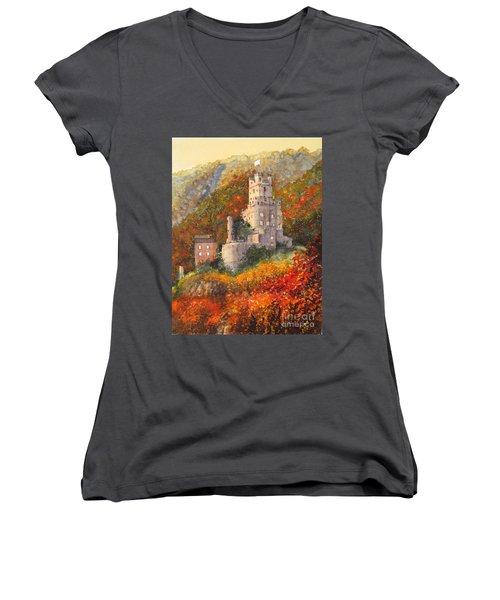 Along The Rhine I Women's V-Neck T-Shirt