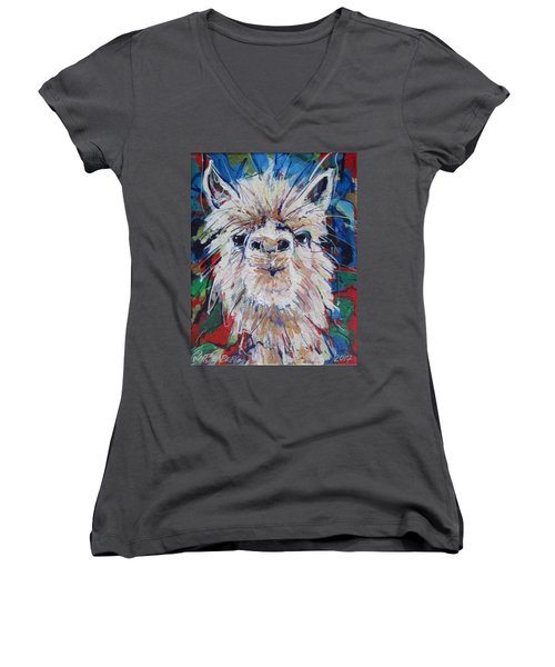 Alpaca Crazed Women's V-Neck (Athletic Fit)