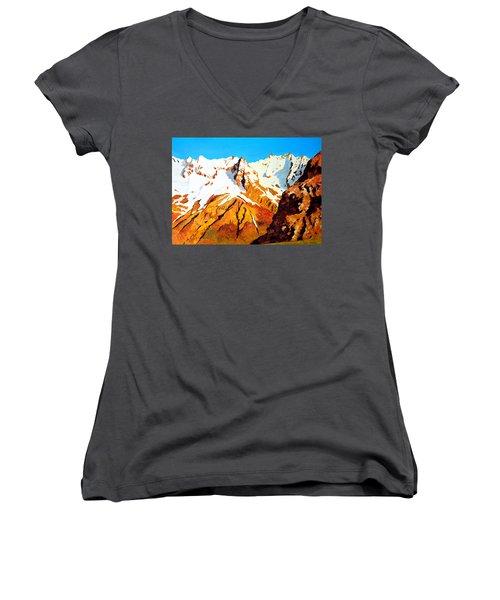 Alpine Landscape Women's V-Neck T-Shirt