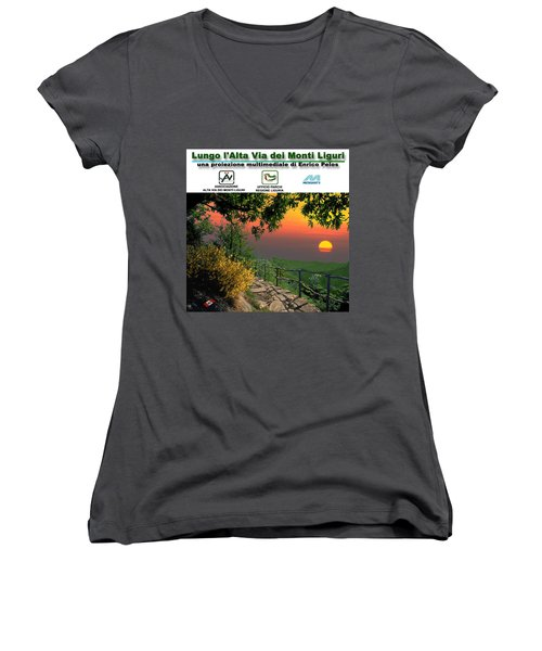 Alta Via Dei Monti Liguri Cd Case Label Women's V-Neck