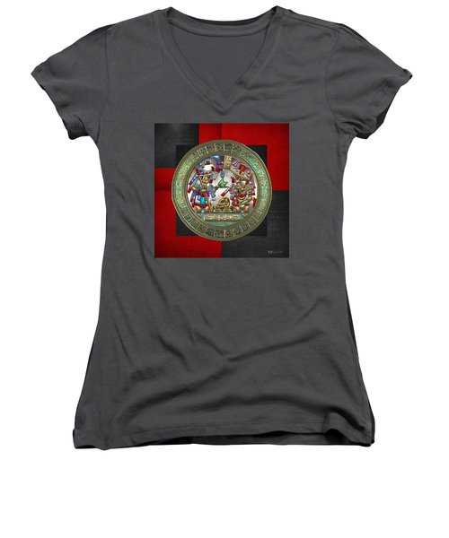 Altar 5 From Tikal Women's V-Neck T-Shirt