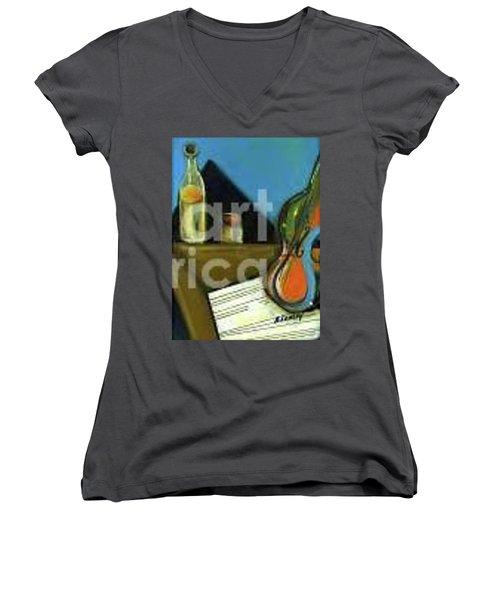 Amandas Violin Women's V-Neck T-Shirt