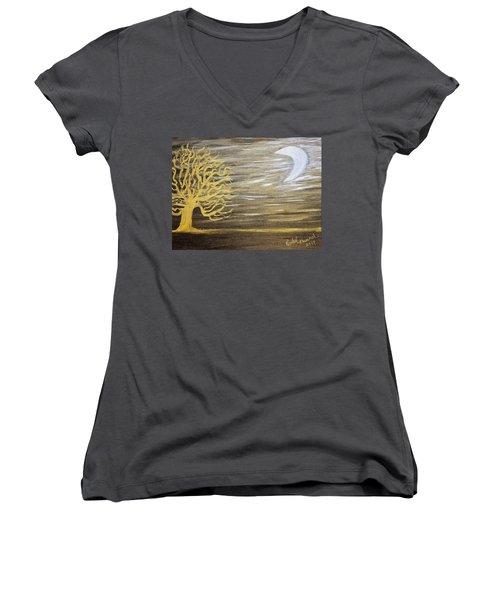 Ambient Night Women's V-Neck T-Shirt (Junior Cut)