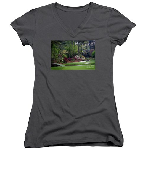 Amen Corner Augusta Women's V-Neck T-Shirt (Junior Cut)