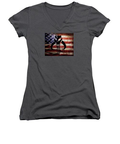 American Mandalorian Women's V-Neck (Athletic Fit)