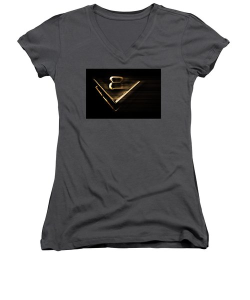 American Muscle V8 Women's V-Neck (Athletic Fit)