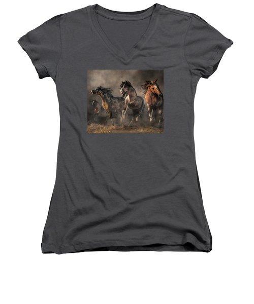 American Paint Horses Women's V-Neck