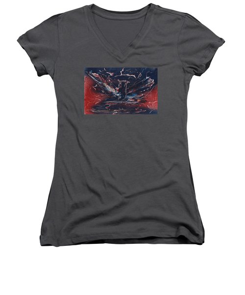 American Phoenix Rising Women's V-Neck (Athletic Fit)