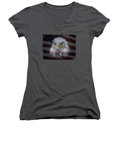 American Pride 2 Women's V-Neck T-Shirt