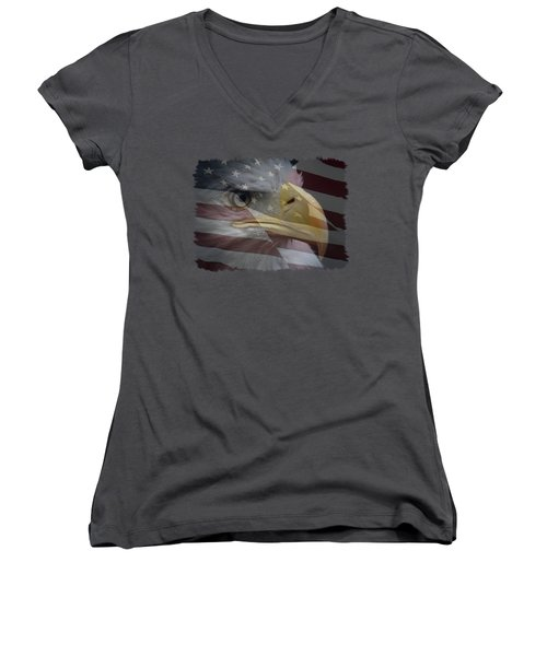 American Pride 3 Women's V-Neck T-Shirt