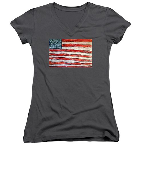 American Social Women's V-Neck T-Shirt (Junior Cut)