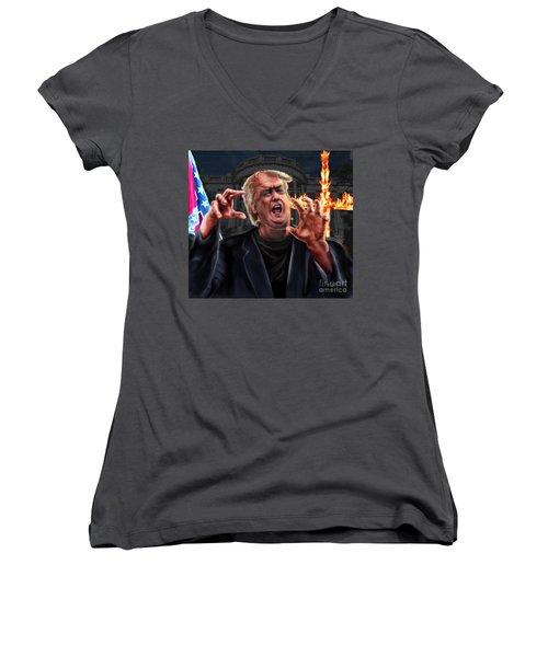 Amerikkkenstein Women's V-Neck T-Shirt