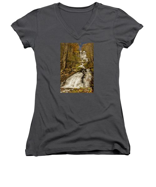 Amicola Falls Gushing Women's V-Neck T-Shirt