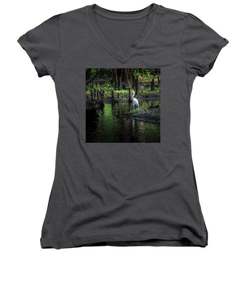 Amidst The Knees Women's V-Neck T-Shirt