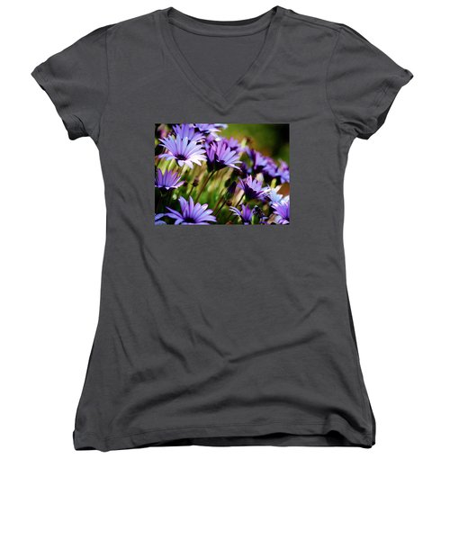 Among The Flowers Women's V-Neck (Athletic Fit)