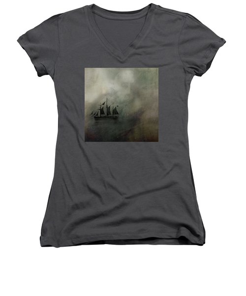 Amundsen And Fram Women's V-Neck T-Shirt (Junior Cut) by Andy Walsh