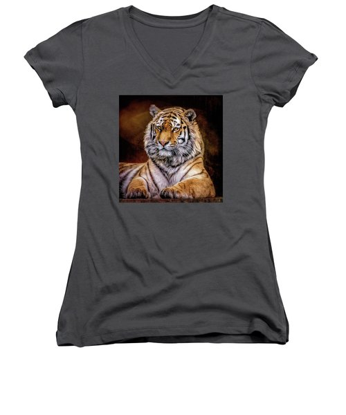 Amur Tiger Women's V-Neck T-Shirt